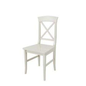 Кухонный стул Рустикал Слоновая кость(с деревянной сидушкой)