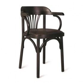 Кухонный стул Венский мягкий, кожзам черный/венге