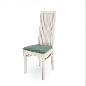 Кухонный стул Сандра Выбеленный бук/ткань Жаккард зеленый