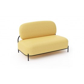 Прямой диван 2-х местный SOFA-06-02 yellow