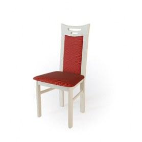 Кухонный стул  Юля Слоновая кость/ткань Жаккард бордо
