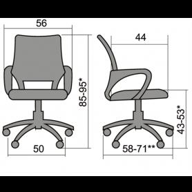 Офисное кресло Comfort CS-9 PPL, красный