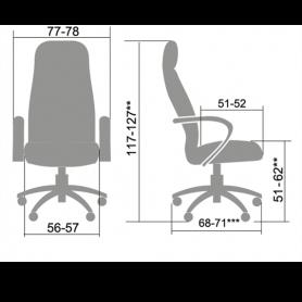 Офисное кресло Lux LK-7 Pl, кожа, черный