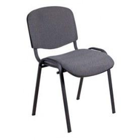 Офисный стул ИЗО каркас черный, серая ткань
