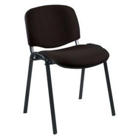 Офисный стул ИЗО каркас черный, черная ткань