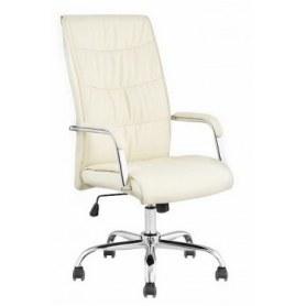 Офисное кресло J 9094 экокожа /хром, белый