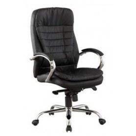 Офисное кресло Кресло J 9031-1 экокожа /хром, черный