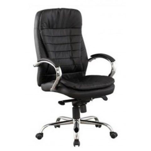 Офисное кресло Кресло J 9031-1 нат. кожа /хром, черный