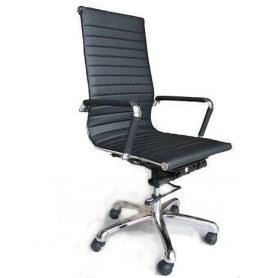 Офисное кресло В108 Кресло экокожа / хром, black ( черный)