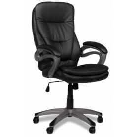 Офисное кресло J 9302 Кресло экокожа /пластик, черный