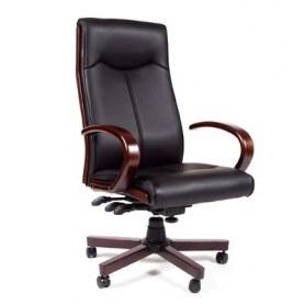 Кресло CHAIRMAN 411 Экокожа премиум черная
