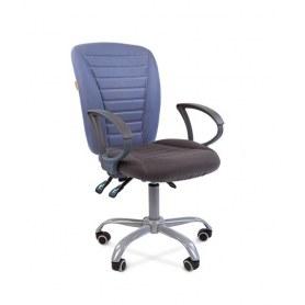 Офисное кресло CHAIRMAN 9801 Эрго Ткань комбинир. 10-141/10-128, синий/серый.