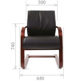 Офисный стул CHAIRMAN 445 WD, кожа, цвет черный