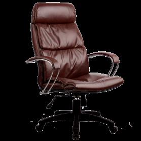 Офисное кресло Lux LK-15 Pl, кожа, коричневый