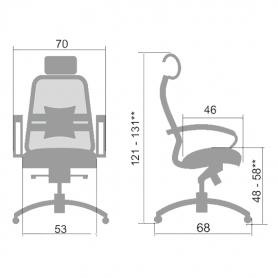 Офисное кресло Samurai SL-2.03, бежевый