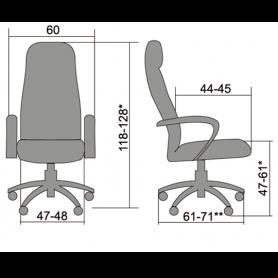 Офисное кресло Business BP-1 Pl, эко,черный