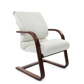 Офисный стул CHAIRMAN 445 WD, кожа, цвет белый