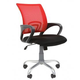 Кресло CHAIRMAN 696 Silver Красный