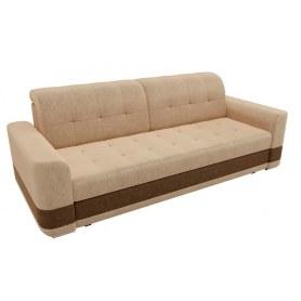 Прямой диван Честер, Бежевый/коричневый (вельвет)