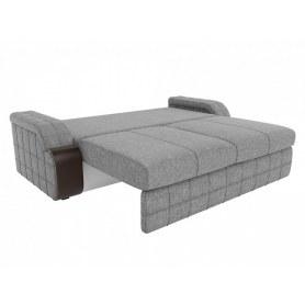 Прямой диван Николь, Серый\коричневый (рогожка)