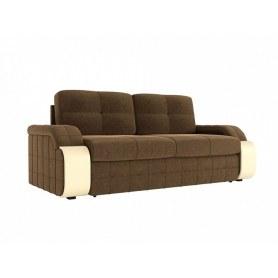 Прямой диван Николь, Коричневый (Микровельвет)