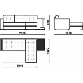 Угловой диван Мальта 2 со столиком