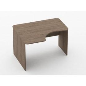 Стол угловой Glassy 1.14.12Л цвет дуб Верцаска 1200х1000(680)х751