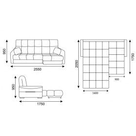 Угловой диван Токио 2 (ППУ)