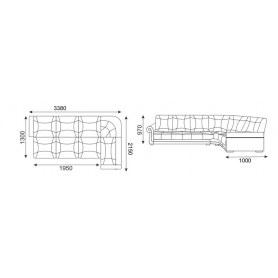 Угловой диван Твист 5 (НПБ)