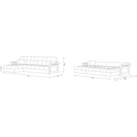 Угловой диван Женева 7 ДУ (НПБ)