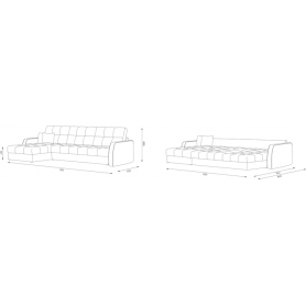 Угловой диван Женева 4 ДУ (НПБ)