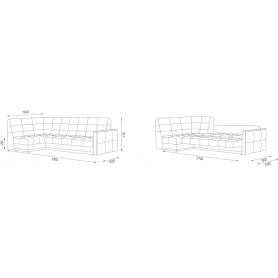 Угловой диван Аризона 6 ДУ (Боннель)