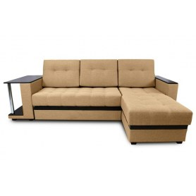 Угловой диван Атланта,цвет Bravo 5 / Coffee venge (ткань/кожзам)