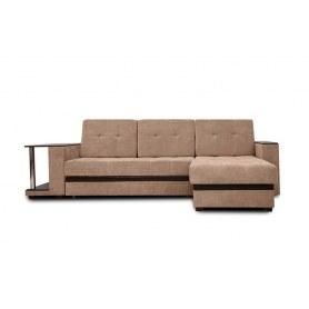 Угловой диван Атланта, цвет Наполи / SDB (ткань/кожзам)