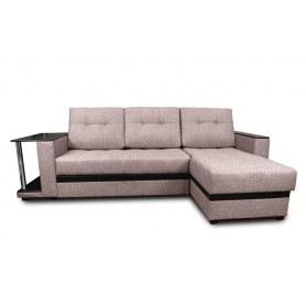 Угловой диван Атланта, цвет Поло коричневый / Coffee venge (ткань/кожзам)