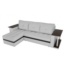 Угловой диван Атланта М 2 стола, Белый (экокожа)