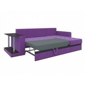 Угловой диван Атланта М, Фиолетовый (вельвет)