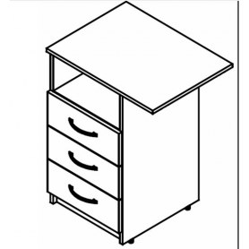 SIMPLE SC-3D.2 R/L Тумба приставная 600х450х760 легно