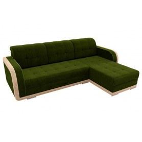 Угловой диван Марсель, Зеленый/бежевый (велюр)