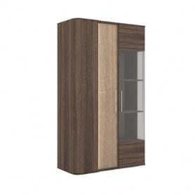 Шкаф-витрина низкий Бруна 629.040 Сономе эйч темная/Сономе эйч светлая