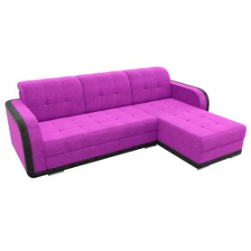 Угловой диван Марсель, Фиолетовый/черный (велюр)