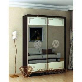Шкаф-купе Victory, 2 двери, 1400х450х2300, 2 зеркала с рис. Версаче
