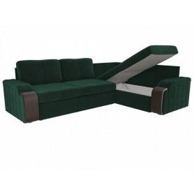 Угловой диван Николь, Зеленый (велюр)