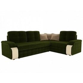 Угловой диван Николь, Зеленый (микровельвет)