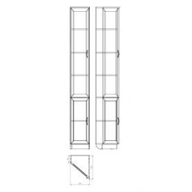 Шкаф 209 левосторонний, цвет Итальянский Орех