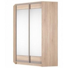 Угловой шкаф-купе Аларти (YA-230х1400(602) (4) Вар. 2; двери D2+D2), с зеркалом