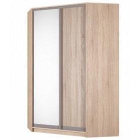 Угловой шкаф-купе Аларти (YA-230х1400(602) (4) Вар. 3; двери D5+D6), с зеркалом