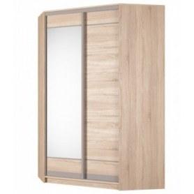 Угловой шкаф-купе Аларти (YA-230х1400(602) (10) Вар. 5; двери D1+D2), с зеркалом