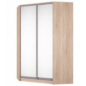 Угловой шкаф-купе Аларти (YA-230х1400(602) (10) Вар. 4; двери D5+D5), с зеркалом