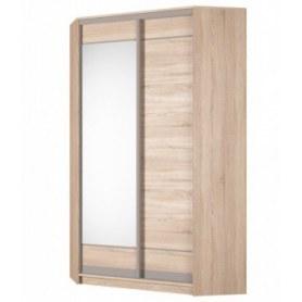 Угловой шкаф-купе Аларти (YA-230х1250(602) (2) Вар. 1; двери D1+D2), с зеркалом